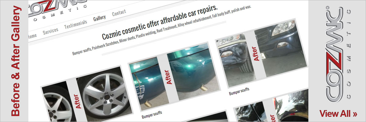 Cozmic Cosmetic offers a mobile car repair service carried